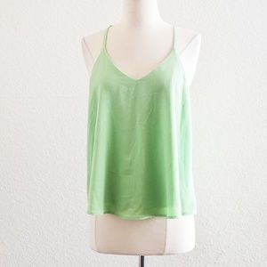 Papaya Green Lace Tank Top Size M